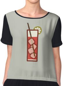 Mixed - Icon Prints: Drinks Series Chiffon Top