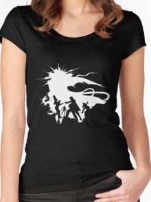 Final Fantasy XV - The Squad (white) Women's Fitted Scoop T-Shirt
