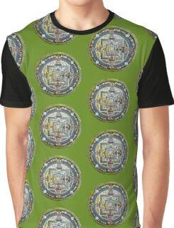 Tibetan Mandala green Graphic T-Shirt