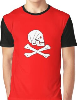 Jolly Roger, Henry Every, PIRATE FLAG, Skull & Crossbones, Pirate, Crew, Buccaneer, White on Red Graphic T-Shirt