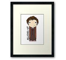 Tenth Doctor Doctor Who kokeshi doll Framed Print