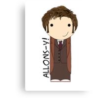Tenth Doctor kokeshi doll Canvas Print