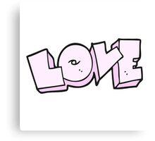 cartoon love sign Canvas Print