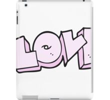 cartoon love sign iPad Case/Skin