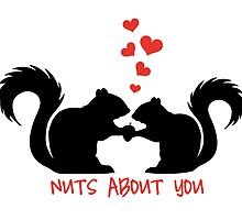 Nuts about you, squirrels in love by beakraus