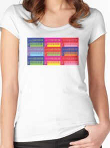 Pop Art Synthesizers Women's Fitted Scoop T-Shirt
