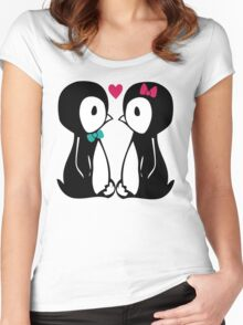 Penguin Love Women's Fitted Scoop T-Shirt