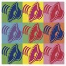 Pop Art Speaker Cones by retrorebirth