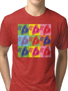 Pop Art Speaker Cones Tri-blend T-Shirt