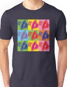 Pop Art Speaker Cones Unisex T-Shirt