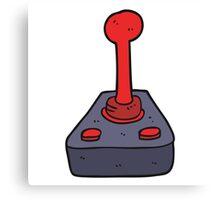 cartoon joystick Canvas Print