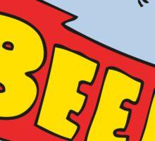 cartoon beer can Sticker