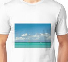 Catamarans at the tropical beach Unisex T-Shirt