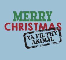 Merry Christmas Ya Filthy Animal Kids Tee
