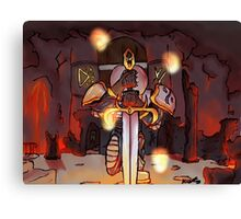 Sword Strike Canvas Print