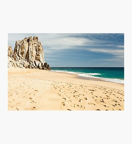 Footsteps in the beach of Cabo San Lucas, Mexico Photographic Print