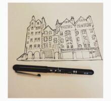 Edinburgh City Scene Scotland Illustration Baby Tee