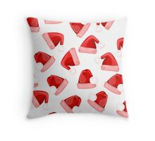 Santa Hat _pattern Throw Pillow