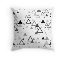 Triangle black and white scandinavian pattern Throw Pillow