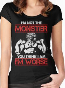 Broly- I am Not The Monster You Think, I am Worse (Only Last 12 Hours Left) Women's Fitted Scoop T-Shirt