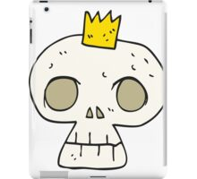 cartoon skull with crown iPad Case/Skin