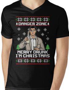 Archer-Danger Zone TV Christmas. Mens V-Neck T-Shirt