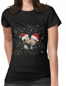 Gillian and David Christmas red Womens Fitted T-Shirt