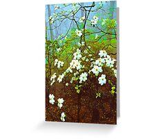DOGWOOD TREE IN FOG Greeting Card