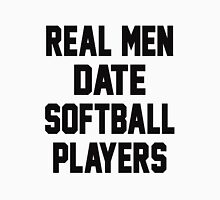 Real Men Date Softball Players Men's Baseball ¾ T-Shirt