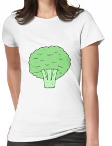 cartoon broccoli Womens Fitted T-Shirt