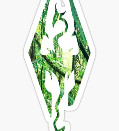 Skyrim in the jungle Sticker