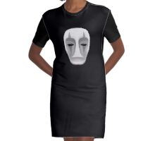 No Face Spirited Away Ghibli Fanart Mask Graphic T-Shirt Dress