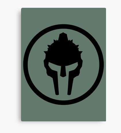 Gladiator Black Canvas Print