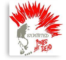 PUNKS not Dead Exploited Canvas Print