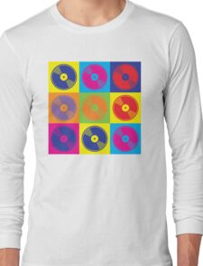 Pop Art Vinyl Records Long Sleeve T-Shirt