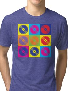 Pop Art Vinyl Records Tri-blend T-Shirt