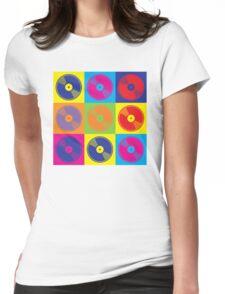 Pop Art Vinyl Records Womens Fitted T-Shirt