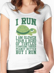 I Run Women's Fitted Scoop T-Shirt