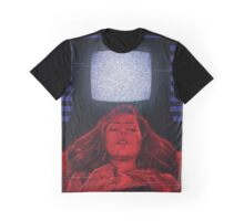 Girl and TV Graphic T-Shirt