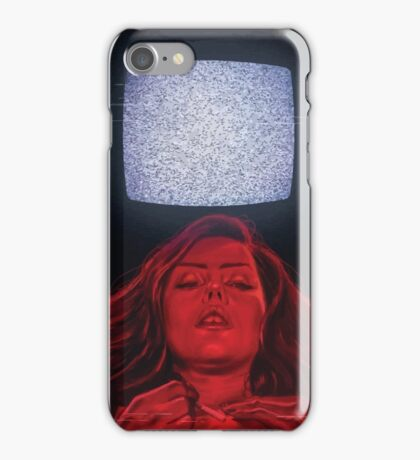 Girl and TV iPhone Case/Skin