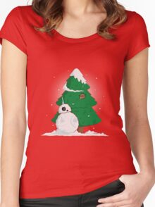 Snowdroid Women's Fitted Scoop T-Shirt