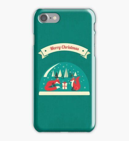 Christmas Foxes have gift for you! iPhone Case/Skin