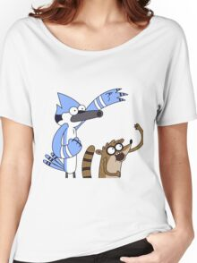 Mordecai & Rigby - Regular Show Women's Relaxed Fit T-Shirt