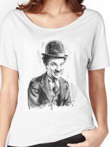 Charlie Chaplin portrait Women's Relaxed Fit T-Shirt