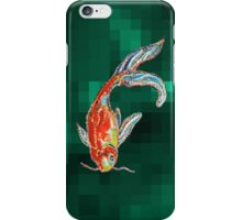 Golden Fish Pixelate iPhone Case/Skin