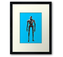 Star Wars K-2SO K-2S0 Rogue One Low Poly Framed Print