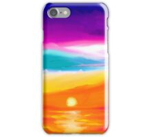 Sunset Beach Ocean Painting  iPhone Case/Skin