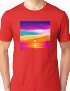 Sunset Beach Ocean Painting  Unisex T-Shirt