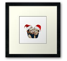 Gillian and David Christmas Framed Print