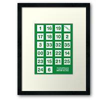 Retired Numbers - Boston Celtics Framed Print